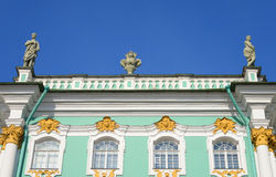 View of Winter Palace of Hermitage Museum. Stock Photo