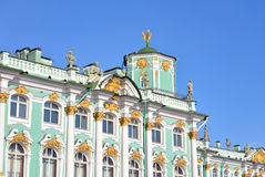 View of Winter Palace of Hermitage Museum. Royalty Free Stock Photos