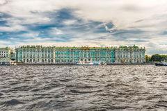 View of the Winter Palace, Hermitage Museum, St. Petersburg, Rus Stock Image