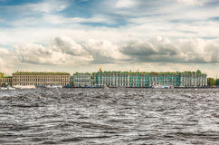 View of the Winter Palace, Hermitage Museum, St. Petersburg, Rus Royalty Free Stock Photography