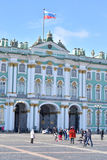 View of Winter Palace of Hermitage Museum. ST.PETERSBURG, RUSSIA - 15 APRIL 2017: View of Winter Palace of Hermitage Museum. One of the largest and most Royalty Free Stock Photo