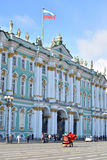 View of Winter Palace of Hermitage Museum. ST.PETERSBURG, RUSSIA - 15 APRIL 2017: View of Winter Palace of Hermitage Museum. One of the largest and most Royalty Free Stock Photography