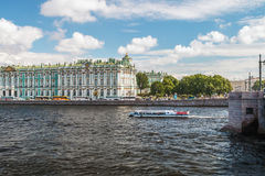 View of Winter Palace from Neva river Royalty Free Stock Image