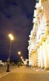 View of Winter Palace at night. Stock Photo
