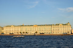 View of the Winter Palace from the Palace bridge in summer Stock Photo