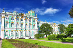 View Winter Palace in Saint Petersburg. royalty free stock photos