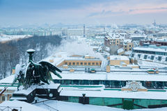View on Winter Palace (State Hermitage Museum) from St. Isaac Cathedral Royalty Free Stock Photos