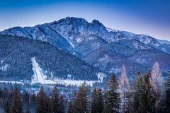 View of the winter ski jump in Zakopane, Tatra Mountains Stock Photo