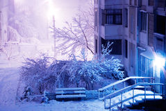 View on a winter street Stock Photography