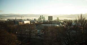 View of winter Tallinn city, Estonia skyline, overlooking the sea. Stock Photo