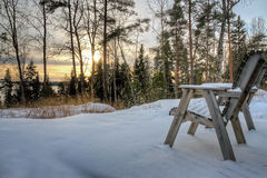 View at wintry landscape Royalty Free Stock Photography