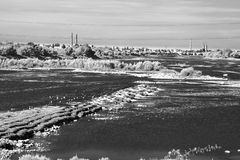 View of the Wloclawek, Poland. View of industrial side city from the dam Royalty Free Stock Photos