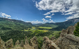 View from wolfcreek scenic pass Royalty Free Stock Photo