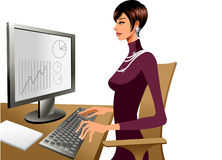The view of woman Stock Image