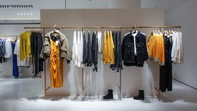 Lady clothing  retail shop  in shopping mall stock image