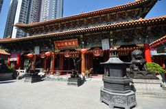 View of Wong Tai Sin Temple in Hong Kong Stock Photo