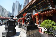 View of Wong Tai Sin Temple in Hong Kong Stock Images