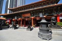 View of Wong Tai Sin Temple in Hong Kong Royalty Free Stock Image