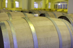 View of wooden barrels Stock Photo