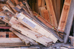 View of the wooden boards Stock Image