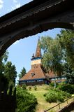View on wooden church in Miskolz Stock Images
