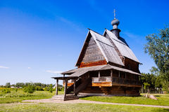 View of wooden Church of St. Nicholas in ancient Suzdal kremlin. Stock Photo
