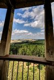 View from wooden outlook tower Royalty Free Stock Photography