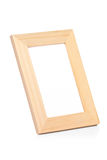 View of a wooden picture frame Royalty Free Stock Photos