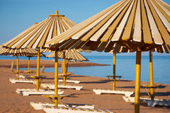 View of wooden umbrella Royalty Free Stock Photography