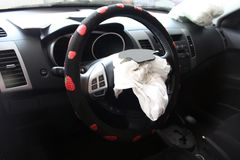 View of worked airbags Royalty Free Stock Image