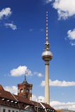 Berlin Buildings and Television Tower (Fernsehturm) Royalty Free Stock Images