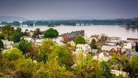 View of Wormleysburg and the Susquehanna River from Negley Park, Royalty Free Stock Photo