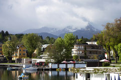 View of Worthersee lake Stock Image