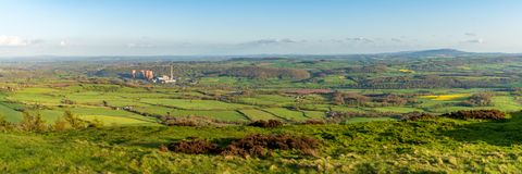 View from the Wrekin, Shropshire, England, UK stock photography