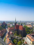 View of Wroclaw (Breslau), Poland frome above Stock Photography