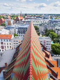 View of Wroclaw. The roof of St. Mary Magdalene Church in Wrocław, Poland royalty free stock images