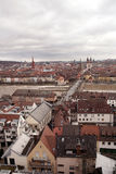 VIEW ON WUERZBURG AND OLD MAIN BRIDGE Stock Photography