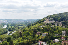 View of Wurzburg. The picture taken from Marienberg fortress gardens. Shows the view of the city of Wuzrburg Stock Images