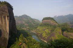 View –Wuyi Mountains Royalty Free Stock Images