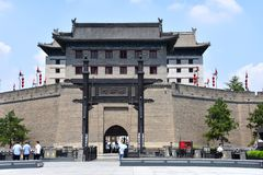 View of the Xian City Wall, China royalty free stock photos