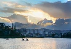 View of Xuan Huong lake in Dalat, Vietnam Royalty Free Stock Photo