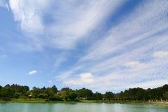 View of Xuan Huong lake at sunny day in Dalat, Vietnam Stock Photo