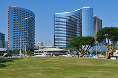 View of yacht harbor. And downtown San Diego, California Stock Photo