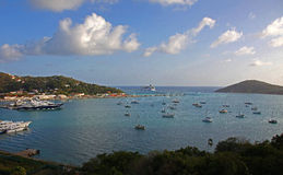 View of Yacht Harbor from Bluebeards Castle Stock Photography