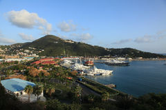 View of Yacht Harbor from Bluebeards Castle Royalty Free Stock Photography