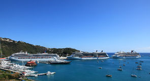 View of Yacht Harbor from Bluebeards Castle Royalty Free Stock Image