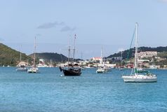 St. Thomas Island Ships Royalty Free Stock Images