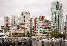 View on Yaletown from Granville island Stock Photos