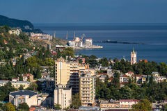 View of Yalta from the cable car Stock Images