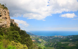 View of Yalta city from Aj-Petri Mount (Ukraine) Stock Image